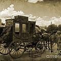 Sepia Stagecoach by John Malone