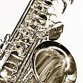 Sepia Tone Photograph Of A Tenor Saxophone 3356.01 by M K  Miller