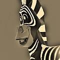 Sepia Zebra by Rob Hans