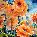 September Orange Poppies            by Kathy Braud