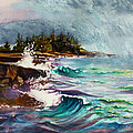 September Storm Lake Superior by Kathy Braud