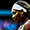 Serena Williams Focus by Brian Reaves
