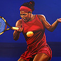 Serena Williams painting by Paul Meijering