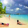 Serene Beach Scene by Jon David