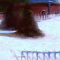 Serene New England Cabin In Winter #10 by Diane Strain