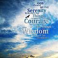 Serenity Prayer 3 - By Sharon Cummings by Sharon Cummings