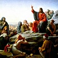 Sermon On The Mount Watercolor by Carl Bloch