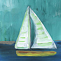 Set Free- Sailboat Painting by Linda Woods