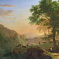Setting Sun, Italy Oil On Canvas by Herman van Swanevelt