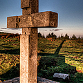 Setting Sun On A Cross By The Trenches by Weston Westmoreland