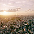 Setting Sun Over Paris by Shaun Higson