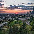 Seattle Sunset by Gene Garnace