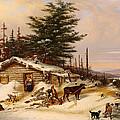 Settler's Log House by Mountain Dreams