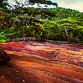 Seven Colored Earth In Chamarel 3. Mauritius by Jenny Rainbow