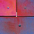 Seven Eight Nine - Colorful Rust - Magenta Blue by Menega Sabidussi
