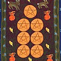 Seven Of Pentacles by Sushila Burgess