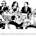 Seven People Are Seen Sitting At A Table by Drew Dernavich