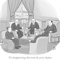 Several Angry-looking Old Men In Suits Sit by Paul Noth