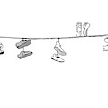 Several Pairs Of Shoes Dangle Over An Electrical by Charlie Hankin