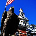 Sevierville Tenn Courthouse Eagleagle by Ron  Tackett
