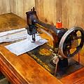 Sewing Machine With Orange Thread by Susan Savad