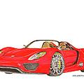 Sexy Spyder Porsche 918 by Jack Pumphrey
