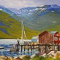 Seydisfjordur Wharf by Barbara Ebeling
