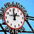 San Francisco Giants Baseball Time Sign by Tap On Photo