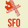Sfo San Francisco Airport Poster 1 by Naxart Studio
