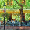 Shaded Cafe by Jeffrey Kolker