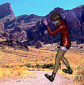 Shadow Boxing Woman by Stanley Morganstein