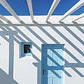 Shadow On Traditional Greek House by Deimagine
