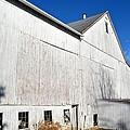 Shadow On White Barn by Tana Reiff