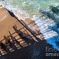Shadows Day At The Beach by Jennie Breeze
