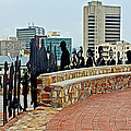 Shadow Representations Of People Coming To The Port In Donkin Reserve In Port Elizabeth-south Africa   by Ruth Hager
