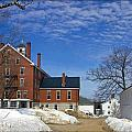Shaker Village Road Poland Springs Maine by Catherine Melvin