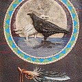 Shaman Black Raven And His Mate Medicine Woman Blue Fairy Animal Spirit Medicine Wheel by Duane West