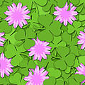 Shamrock Paper Cutting Clover Flowers Background by David Gn
