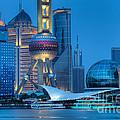Shanghai Pudong by Fototrav Print