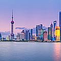 Shanghai Pudong Skyline  by U Schade