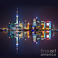 Shanghai Reflections by Delphimages Photo Creations