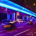 Shanghai Street At Night by Paul Eggermann