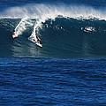 Sharing A Wave In Waimea Bay by Richard Cheski