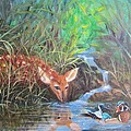 Sharing The Pond by Sherry Strong