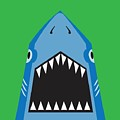 Shark Illustration, T-shirt Graphics by Syquallo