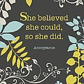She Believed by Cindy Greenbean