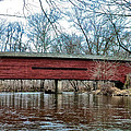 Sheeder - Hall - Covered Bridge Chester County Pa by Bill Cannon