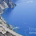 Sheer Walls Of The Crater Lake Caldera by Ellen Thane