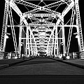 Shelby Street Bridge At Night In Nashville by Dan Sproul