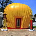 Winston-salem Nc - Shell Shaped Gas Station by Frank Romeo